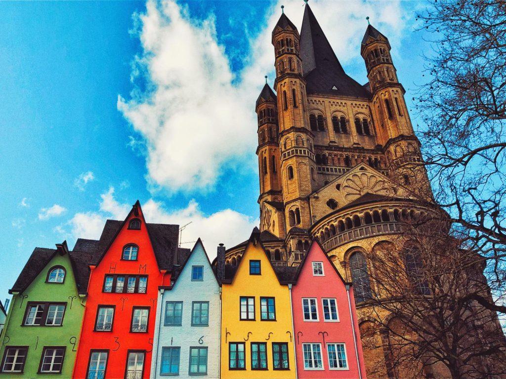 St Martin Katedrali ve Köln Evleri